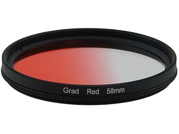 Globalmediapro Graduated Color Filter 58mm - Red