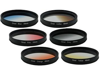 Globalmediapro Graduated Color Filter Kit 003 49mm, 6pcs