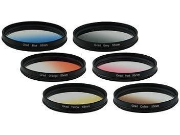 Globalmediapro Graduated Color Filter Kit 003 55mm, 6pcs
