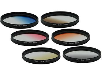 Globalmediapro Graduated Color Filter Kit 003 58mm, 6pcs