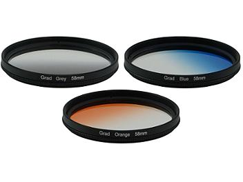 Globalmediapro Graduated Color Filter Kit 004 58mm, 3pcs