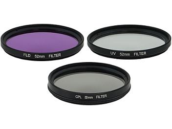 Globalmediapro Filter Kit 005 (UV, CPL, FLD) 52mm, 3 pcs