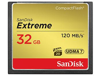 SanDisk 32GB Extreme CompactFlash Memory Card 120MB/s (pack 2 pcs)