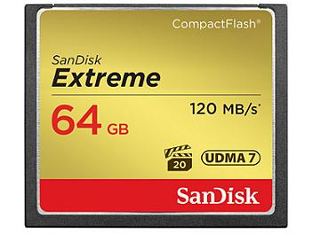 SanDisk 64GB Extreme CompactFlash Memory Card 120MB/s (pack 5 pcs)