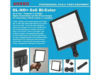 Ansso UL-HO+ 6x6 Bi-Color F Camera Light with NP-F Mount