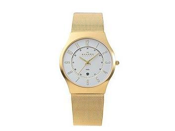 Skagen 233XLGG Gold Tone Mesh Watch