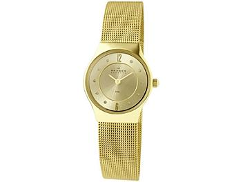 Skagen 233XSGGG2 Light Gold Tone Mesh Band Watch