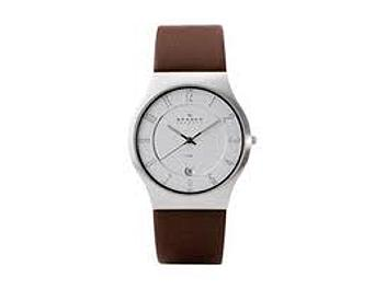 Skagen 233XXLSL Brown Leather Steel Men's Watch