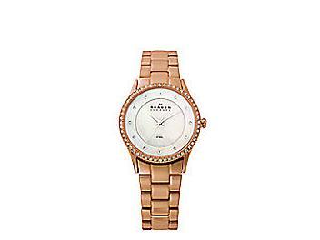 Skagen 347SRXR Rose Gold Tone Steel Link Watch