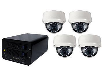 Globalmediapro T-NS-0400 NVR + 4 x T-TD20SV IR Camera Kit NTSC