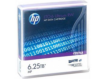 Hewlett-Packard C7976A LTO 6 Ultrium 6.25TB Data Cartridge (pack 10 pcs)