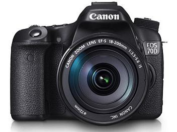 Canon EOS-70D DSLR Camera Kit with Canon EF-S 18-200mm Lens