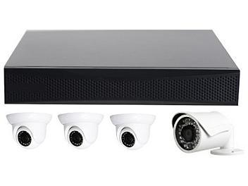 Globalmediapro T-TN4004 NVR + 3 x T-TD20M1 + 1 x T-TB20M1 IR Camera Kit PAL