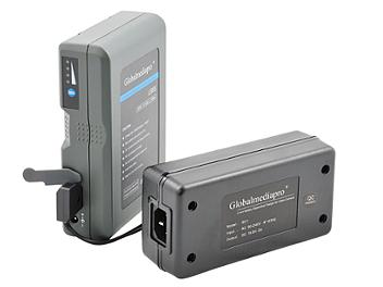 Globalmediapro Li95S V-Mount Li-ion Battery 95Wh + 1-channel Charger + XLR4 Power Cable (TRY OUT KIT for Panasonic AG-GH4U Camera)