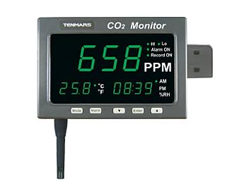 Tenmars TM-187 Large LED Screen CO2/Temperature/Huminity Monitor