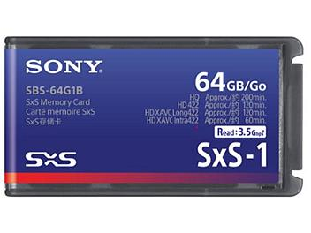 Sony SBS-64G1B 64GB SxS Memory Card (pack 10 pcs)