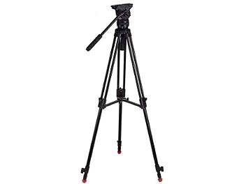 Globalmediapro FH4-AL-M Video Tripod with Aluminum Legs and Mid-Level Spreader
