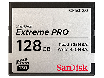 SanDisk 128GB Extreme Pro CFast 2.0 Memory Card 525MB/s