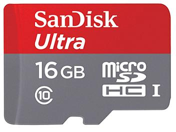 SanDisk 16GB Ultra UHS-I microSDHC Memory Card (Class 10)