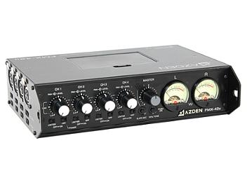 Azden FMX-42u 4-Channel Microphone Field Mixer with USB