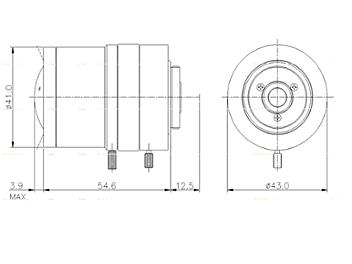 Samyang 2.4-6.0mm SCVM246AS M CCTV Lens