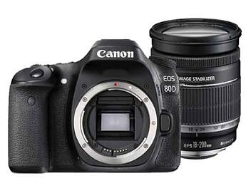 Canon EOS-80D DSLR Camera Kit with Canon EF-S 18-200mm Lens