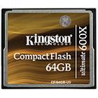 Kingston 64GB Ultimate 600x CompactFlash Memory Card 90MB/s
