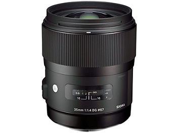 Sigma 35mm F1.4 DG HSM Art Lens - Canon Mount