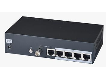 Globalmediapro SHE IP02PHK 4-port POE Camera Coaxial / CAT5e Extender (Transmitter and Receiver)
