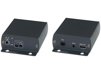Globalmediapro SHE HE01F HDMI and IR/RS232 Fiber Optic Extender (Transmitter and Receiver)