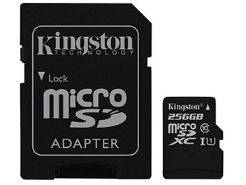 Kingston 256GB microSDXC Memory Card (Class 10) 80MB/s