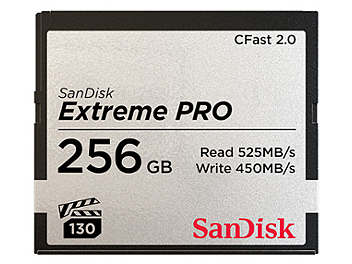 SanDisk 256GB Extreme Pro CFast 2.0 Memory Card 525MB/s