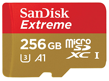 SanDisk 256GB Extreme UHS-1 microSDXC Memory Card 100MB/s