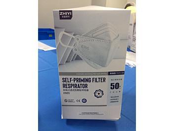 Zhiyi KN95 Self-Priming Filter Respirator Face Mask (pack 100 pcs)