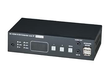 Globalmediapro SHE HKM02BPR-4K HDMI, Audio, CAT5e over IP Receiver with IR, KVM, USB, RS232 and PoE