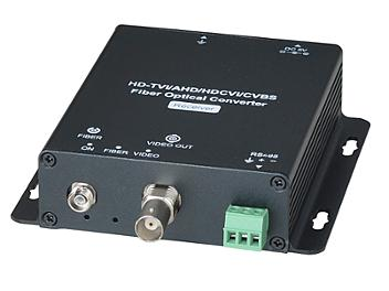 Globalmediapro SHE HD401F HD-TVI / AHD / HD-CVI / CVBS Fiber Optical Extender (Transmitter and Receiver)