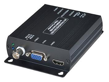 Globalmediapro SHE AD001HDE HD-TVI / AHD / HD-CVI / CVBS to HDMI / VGA / CVBS Converter with Loop Out