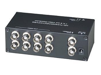 Globalmediapro SHE CD108HD 1x8 HD-TVI / AHD / HD-CVI / CVBS Video Distributor