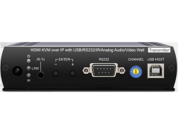 Globalmediapro SCT HKM02BT 1080P HDMI KVM over IP Transmitter with USB, RS232, IR, Audio